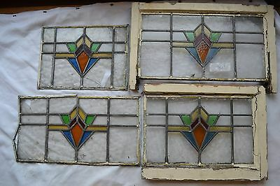 SCRAP art deco leaded light stained glass. Code: S458. DELIVERY!