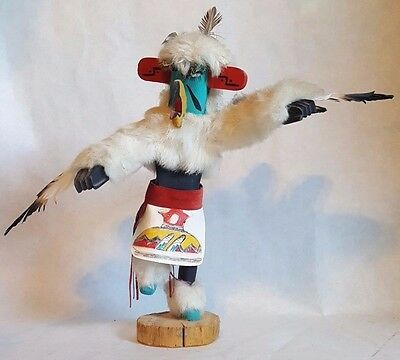 "Navajo Eagle Dancer Kachina Signed By Artist E.R. '91 - 14"" x 17"" Amazing"