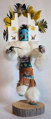 "Navajo Kachina First Mesa Signed By Artist F. Charley - 16 1/2"" x 6 1/2"""