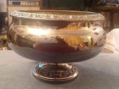 Large Silver Plate Rose Bowl Made By IANTHE.