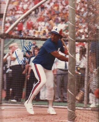 Tim Raines Autographed 8x10 Vintage Photo Montreal Expos Future HOFer