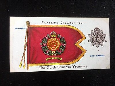 Players Cards Regimental Colours & Cap Badges No 29 North Somerset Yeomanry