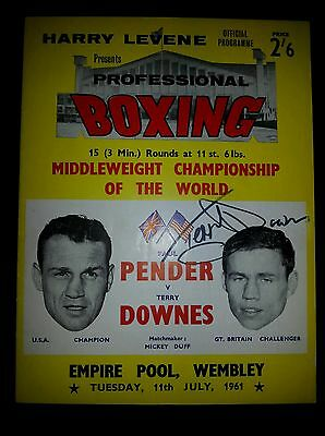 Original Terry Downes World Middleweight Title onsite program - Signed