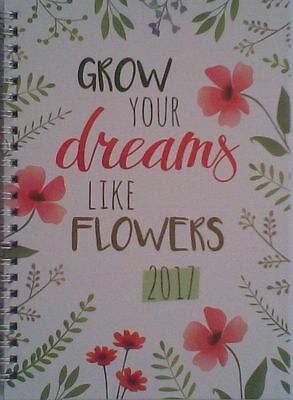 A5  2017 (Grow Your Dreams Like Flowers) Week To View Spiro Bound Diary/Planner