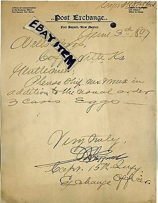 1897 FORT BAYARD New Mexico CAPT S R STAFFORD 15th Infantry INDIAN WARS U S Army