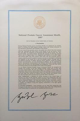 George W. Bush- Signed 2007 Document as President