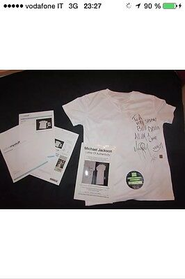 Michael Jackson Signed Shirt Coa And Valutation And Estimation