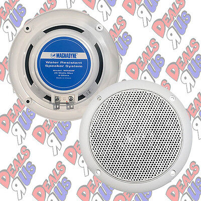 "Pair Of Magnadyne WR45W 5"" Inch Waterproof Marine, Boat, Hot Tub Speakers White"
