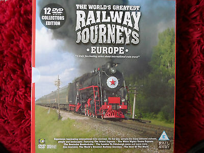 The Worlds Greatest Railway Journeys Europe 12 DVD Collectors Edition
