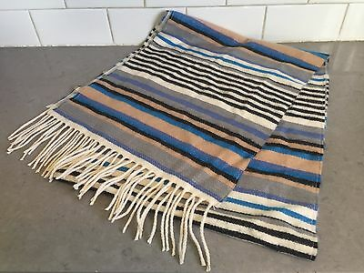 100% Cashmere Striped Scarf *NEW* Made in Germany - Soft and Warm