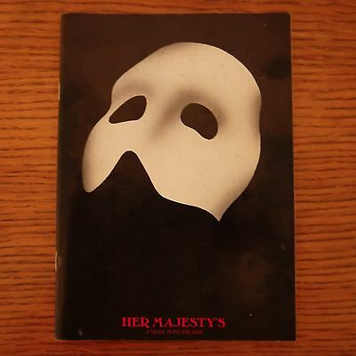 'Phantom Of The Opera' 1989  Her Majesty's Theatre Programme  Martin Smith