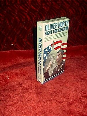Oliver North,Fight For Freedom-VHS-Sealed-New-Highlights Before Congress-Vietnam