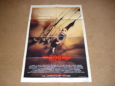 The Howling Original One Sheet Movie film poster