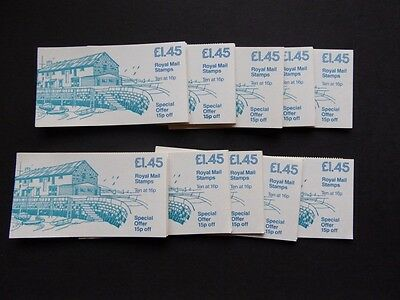 Gb 1983 £1.45 British Countryside  Folded Booklets X10 Sg F2 Cat £90