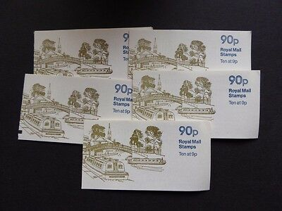 "GB 1978/9 90p CANALS ""REGENTS"" FOLDED BOOKLETS X 5 SG FG6"