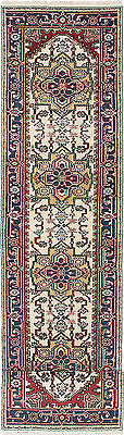 """Hand-knotted Carpet 2'7"""" x 11'11"""" Traditional  Wool Runner Rug"""