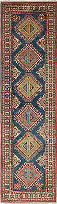 """Hand-knotted Carpet 2'5"""" x 9'3"""" Traditional Navy Blue Wool Runner Rug"""