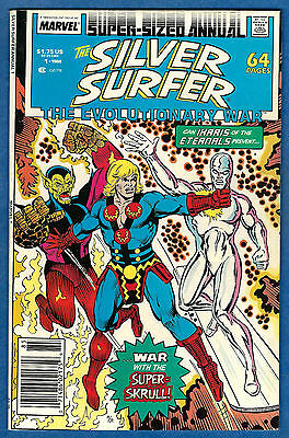 SILVER SURFER Annual # 1  1988- Volume 1  (vf-) The Evolutionary War Pt. 3