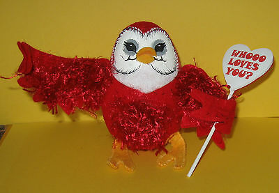"""Mint 2009 Annalee 5"""" Valentine Whooo Loves You Owl ~ Made in U.S.A."""