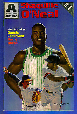 SHAQUILLE O'NEAL  - DENNIS ECKERSLEY & BARRYBONDS- Athletic Comics # 1