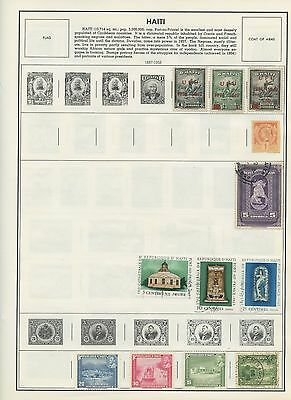HAITI--Accumulation of 89 stamps mounted on pages