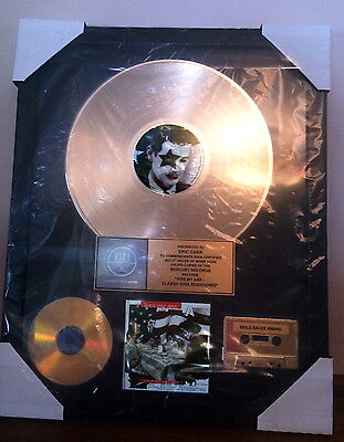 """KISS, Authentic, """"KISS MY ASS"""" RIAA GOLD RECORD AWARD, to ERIC CARR"""