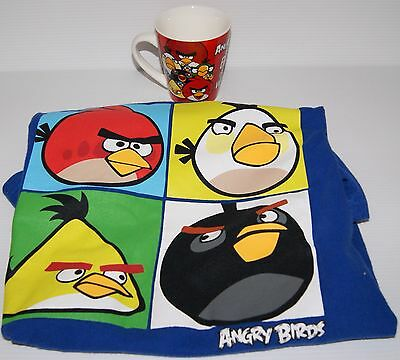 ANGRY BIRDS T-Shirt (size 14) & 9cm Ceramic Angry Birds Mug (Bird Is The Word)