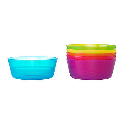 12 IKEA KALAS Plastic Bowl Kids Party Picnic Beach Camping + FREE Cutlery Pack
