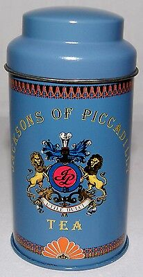 JACKSONS OF PICADILLY 10cm Blue Tea Tin Canister With Lid, EC