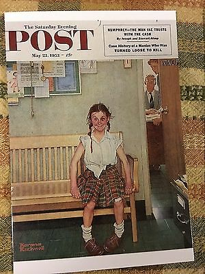 Vintage Postcard The Saturday Evening Post The Shiner by Norman Rockwell
