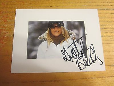Gretchen Bleiler Autographed/Signed 3.5X4.75 Photograph USA Olympic Snowboarding