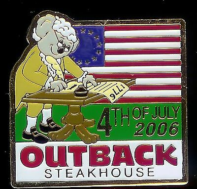 J2867 Outback Steakhouse hat lapel pin 4th July 2006
