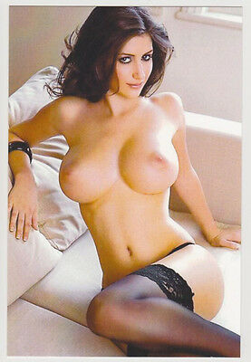 Postcard Nude Sexy Girl Topless Breast Knockout Gorgeous Photo Post Card 7114