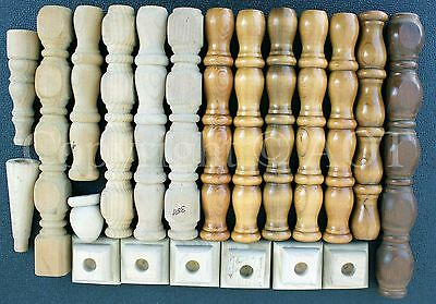 Estate Lot of Spindles & Other Wood Items