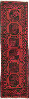 """Hand-knotted Carpet 2'10"""" x 9'5"""" Traditional  Wool Runner Rug"""