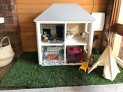 Vintage Wooden Dollhouse INCLUDING ALL WHIMSY WOODS & Ikea Furniture