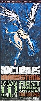 Incubus Handbill with Hoobastank Mini-Poster Concert 2002