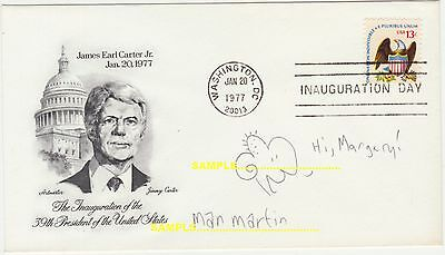 Man Martin, Signed 1977 Artwork on Carter USA Cover, Sibling Revelry Cartoonist