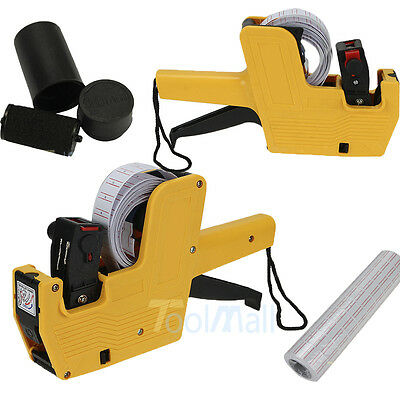 MX-5500 8 Digits One line Price Tag Gun Labeler Plus 5000 Yellow labels +1 Ink