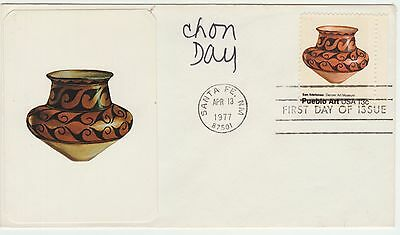 "Chon Day ""Brother Sebatian"" Cartoonist, Signed 1977 Ceramic Art USA FD Cover"