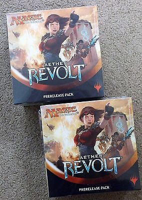 Magic The Gathering Aether Revolt Prerelease Kit Pack Lot Of 2 Priority Shipping