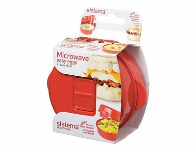 Sistema Microwave Easy Eggs Cooker Poached Scrambled Omelette Maker, 270 ml Red
