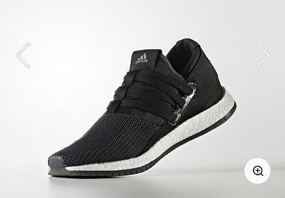 Adidas Pure Boost Raw Womens Running Shoes, Size 8, Black