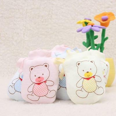 1Pairs Cute Infant Baby Boys Girls Anti Scratch Mittens Soft Newborn Rope Gloves