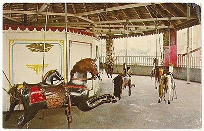 Watch Hill,WESTERLY, R.I  FLYING HORSE CAROUSEL ~ Vintage Postcard