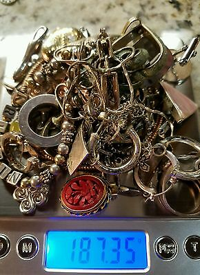 Silver 925 Sterling jewelry lot for scrap 187.35 graham's