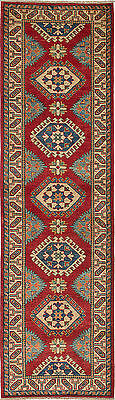 """Hand-knotted Carpet 2'9"""" x 10'0"""" Traditional  Wool Runner Rug"""