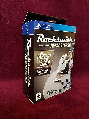 Rocksmith 2014 Edition Remastered + Real Tone Cable PS4 ** FREE PRIORITY MAIL **