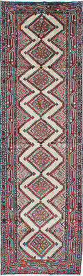 """Hand-knotted Persian Carpet 2'9"""" x 9'3"""" Koliai Traditional  Wool Rug Runner"""