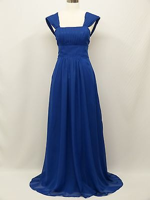 dress190 Blue Chiffon Corset Party Bridesmaid Wedding Prom Ball Gown Dress 18